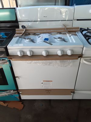 $299 Amana made by Whirlpool White gas stove brand new includes delivering the San Fernando Valley of warranty and installation for Sale in Los Angeles, CA