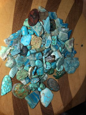Turquoise and agate stones assorted for Sale in Stockton, CA