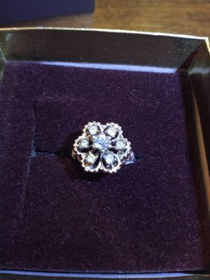 18k white topaz ring for Sale in Akron, OH