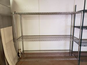 "Metal Shelving 72""Wx24""Wx62""H stainless steel for Sale in Miami, FL"