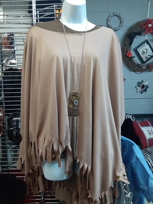 Fringe poncho (One Size) for Sale in Dallas, TX