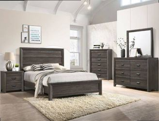 Queen frame. Dresser. Mirror. One night stand. Check description. Price firm for Sale in Pomona,  CA