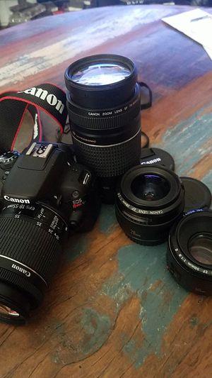 Canon SL1 DSLR w 4 lenses for Sale in Baton Rouge, LA
