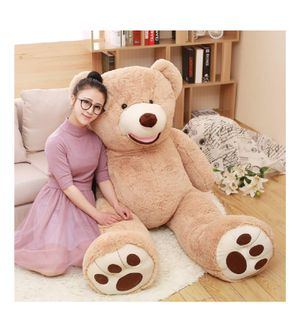 DOLDOA Big Teddy Bear Stuffed Animals with Footprints Plush Toy for Girlfriend Brown 51 inch for Sale in Corona, CA