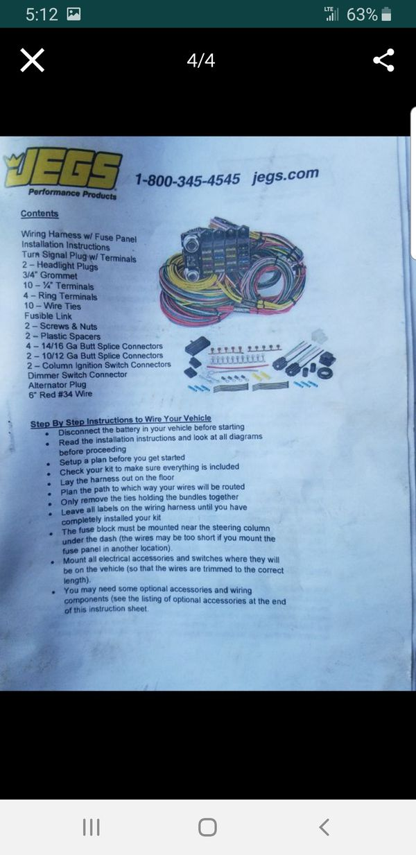 jegs universal wiring harness for Sale in Milford, CT - OfferUp on universal miller by sperian harness, construction harness, universal air filter, universal equipment harness, universal ignition module, universal battery, universal radio harness, universal heater core, universal fuel rail, lightweight safety harness, stihl universal harness, universal steering column, universal fuse box,