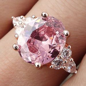NEW Rose Gold Diamond Princess Ring for Women Fashion Wedding Party Anniversary Birthday Gift for Sale in Las Vegas, NV