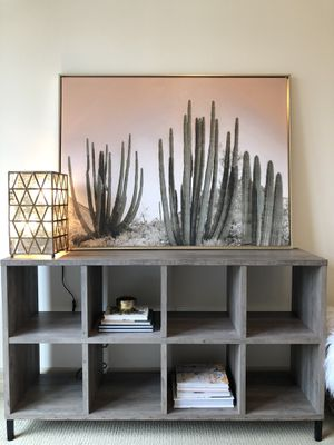 8 Cube Console Table / Bookcase : Rustic Gray for Sale in Houston, TX