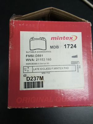 Mintex MDB 1724 Front Brake Pads W124 E Class C36 AMG for Sale in Albany, GA