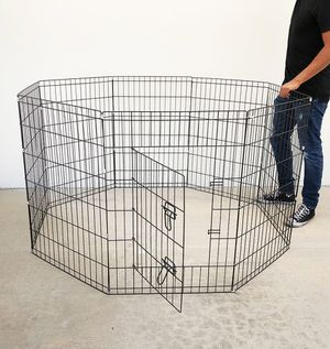 """(NEW) $40 Foldable 36"""" Tall x 24"""" Wide x 8-Panel Pet Playpen Dog Crate Metal Fence Exercise Cage for Sale in Whittier, CA"""