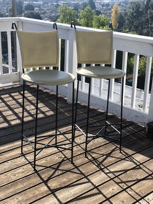 Leather bar stool set for Sale in San Leandro, CA