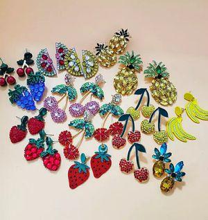Bedazzled Fruit Earrings for Sale in Portland, OR