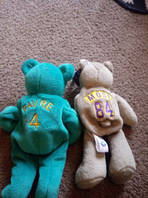 Favre and Moss beanie babies for Sale in Galloway, OH