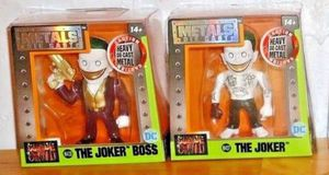 Set of 2 Metals Die Cast Figures DC COMICS Suicide Squad THE JOKER BOSS and THE JOKER for Sale in West Palm Beach, FL