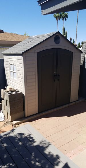 Lifetime brand 8x5x8 shed for Sale in Mesa, AZ