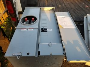 100 amp outdoor breaker box with meter insert for Sale in San Diego, CA