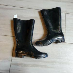 NWT Black Rubber Rain Boots/Santa Boots Women's 8W for Sale in Las Vegas, NV