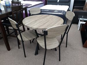 Round gray color dining table set for Sale in College Park, MD