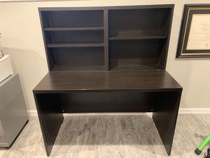 Black Desk with Shelves for Sale in Alexandria, VA