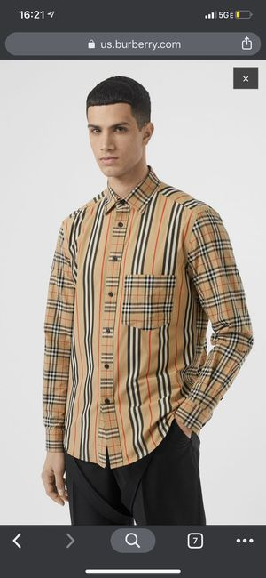 Burberry man casual shirts size L for Sale in Los Angeles, CA