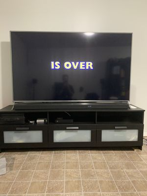 LG 70 in TV with media table for Sale in Brooklyn, NY