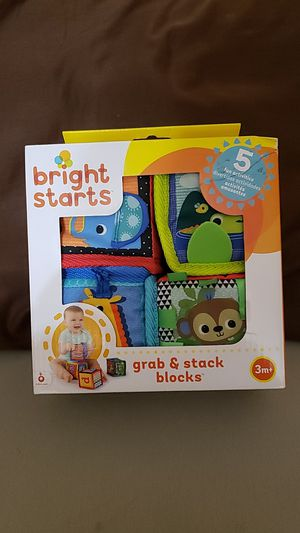 Baby Toys 3 mo + Bright Starts Grab & Stack Blocks for Sale in Surprise, AZ