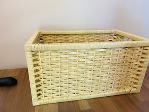Green wicker basket for Sale in Greensboro, NC