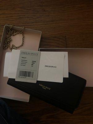 Emilio Pucci black leather chain Wallet/Purse NIB for Sale in Fort Washington, MD