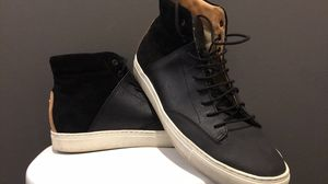 Leather-Suede High Top Sneakers (Size 9.5 -10) for Sale in Seattle, WA