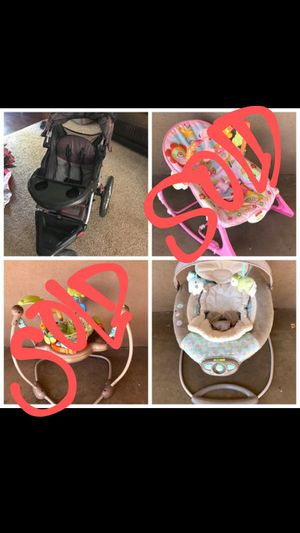 Jogging stroller and a musical bouncer for Sale in Phoenix, AZ
