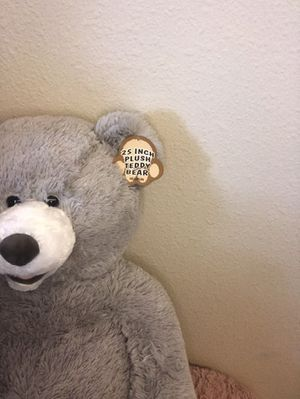 Teddy bear gray color beautiful and soft for Sale in Aloha, OR