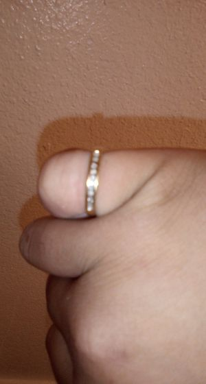 14k gold nugget ring with diamonds for Sale in San Antonio, TX