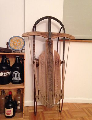 Vintage wood sled for Sale in New York, NY