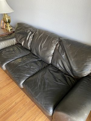 Real Leather couch for Sale in Aurora, CO