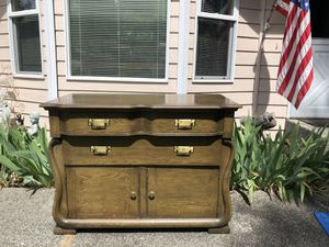 PRICE REDUCED:: Beautiful Antique SOLID OAK Buffet/Sideboard for Sale in Stanwood, WA