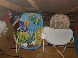 Booster seat and bouncer for Sale in Fort Washington, MD