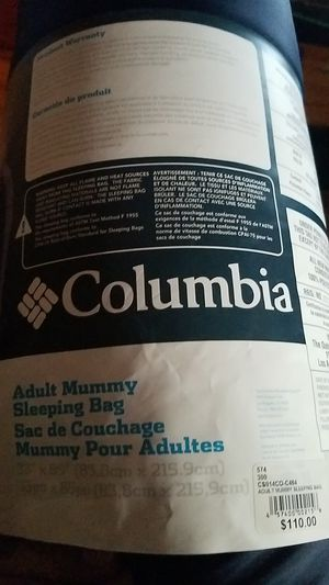 NEW MUMMY Sleeping Bag COLUMBIA for Sale in Chicago, IL