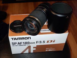 Tamron SP AF 180MM f3.5 Macro lens for NIKON FX for Sale in Carnegie, PA