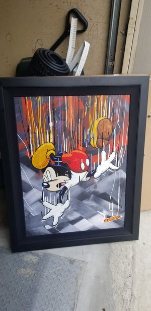 MICKEY MOUSE OIL PAINTING SIGNED for Sale in Fairfax, VA