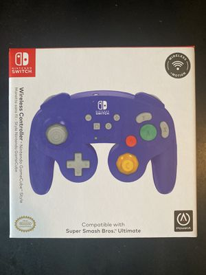 Nintendo Switch GameCube wireless controller- Purple for Sale in East Rutherford, NJ