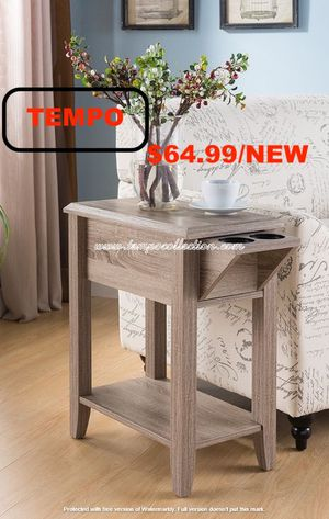 Chair Side Table, Dark Taupe for Sale in Huntington Beach, CA