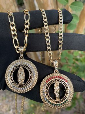 14k Gold filled chain with medallions for Sale in Houston, TX