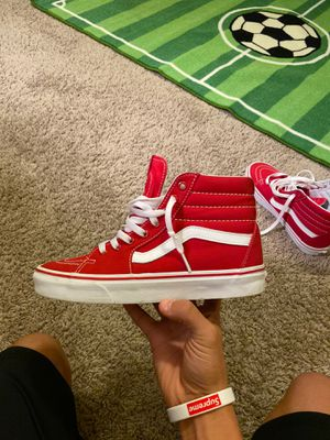 High top vans red for Sale in Spring, TX