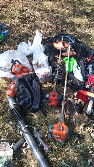 2 weed eater blower tiller pole saw and 16 inch chainsaw for Sale in North Chesterfield, VA