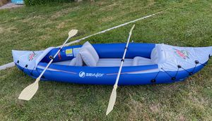 Sevylor Kayak Inflatable 2 Person Kayak MTN Dew Promo for Sale in Clinton Township, MI