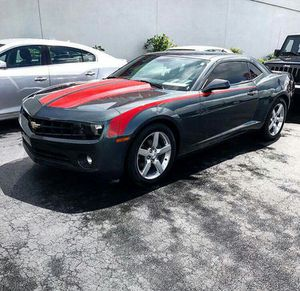 2013 Chevy Camaro Granite Metallic Grey w/Hot Red Racing Stripes $1400 Down Now Approval Based on Income for Sale in Atlanta, GA