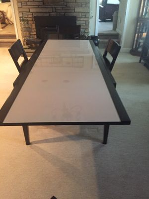 Glass top dining table for Sale in Chalfont, PA