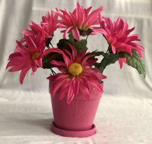 "13"" inch Artificial Flowers in a Ceramic Vase Home Decor for Sale in El Cajon, CA"