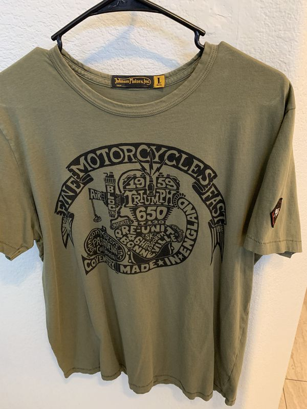 Triumph motorcycle T-Shirts men's Large lightly worn 1-2 times. 5 shirts for $50 Nice shirts.