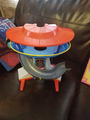 Paw patrol vehicle toy and coloring book for Sale in Appleton, WI