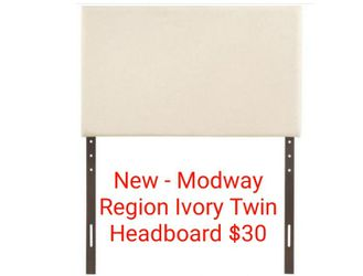 New - Modway Region Ivory Twin Bed Headboard $30 for Sale in Lewis Center,  OH